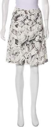 Akris Punto Printed Knee-Length Skirt