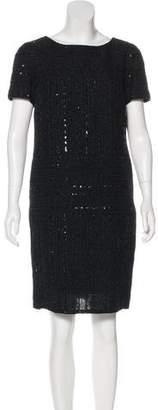 Chanel Sequin Short Sleeve Dress