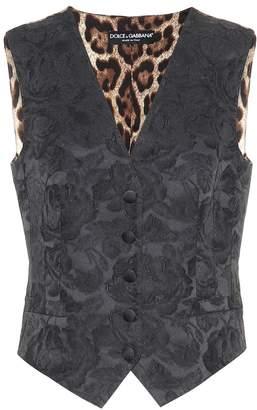 Dolce & Gabbana Floral-jacquard vest