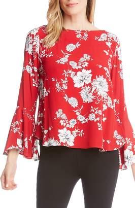 Karen Kane Bouquet Print Bell Sleeve Top