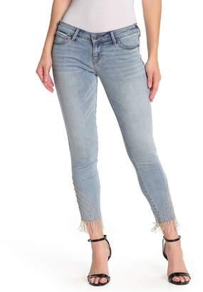 True Religion Halle Crystal Fringe Jeans