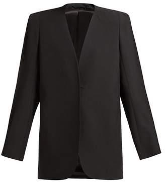 Lemaire Wool Barathea Suit Jacket - Womens - Black
