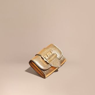 Burberry Metallic Leather Card Case $295 thestylecure.com