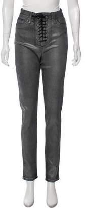Hudson Metallic High-Rise Skinny Jeans w/ Tags