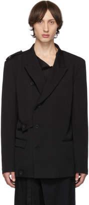 Yohji Yamamoto Black Tension Blazer