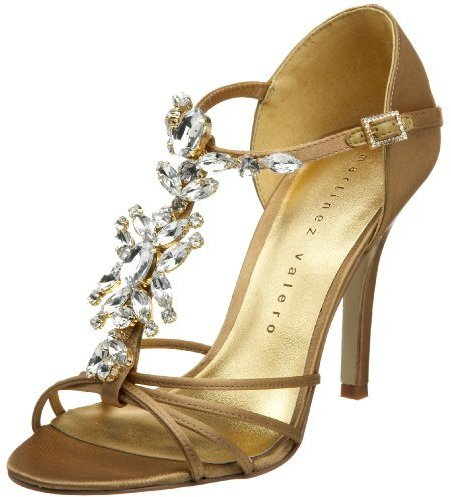 Martinez Valero Women's Crystal Jeweled Sandal