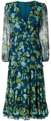 Saloni floral print longsleeved dress
