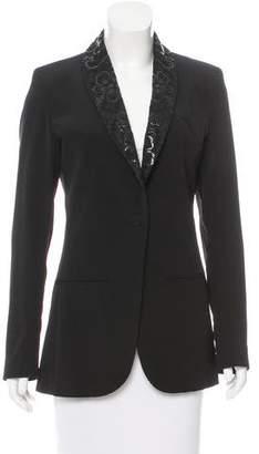 Jean Paul Gaultier Wool Lace-Trimmed Blazer w/ Tags