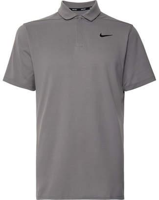 Nike Aeroreact Victory Striped Golf Polo Shirt