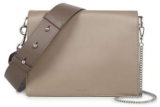 AllSaints Zep Lambskin Leather Box Bag