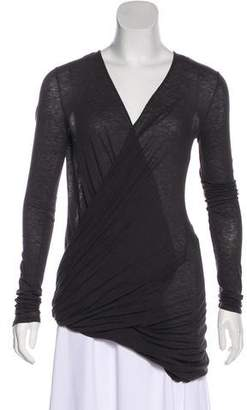 Helmut Lang Long Sleeve Asymmetrical Top