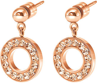 Folli Follie Classy rose gold-plated drop earrings