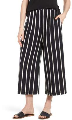 Eileen Fisher Stripe Organic Cotton Capri Pants