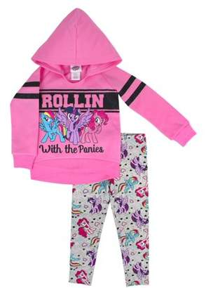 My Little Pony Varsity Fleece Pullover Hoodie & Legging, 2-Piece Outfit Set (Little Girls)