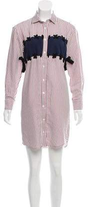 Paul & Joe Striped Knee-Length Shirtdress