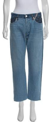 Atelier Jean High-Rise Straight-Leg Jeans w/ Tags
