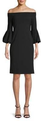 Eliza J Off-the-Shoulder Bubble Sleeve Dress