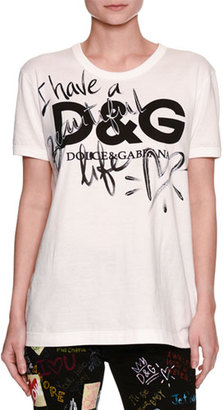 Dolce & Gabbana Have a Beautiful Life Cotton T-Shirt, White $245 thestylecure.com
