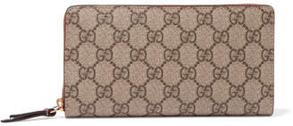 Gucci Coated-canvas Continental Wallet - Beige