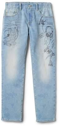 Gap Indestructible Superdenim Graffiti Slim Jeans