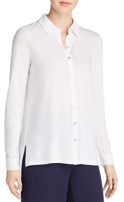 Eileen Fisher Organic Cotton Knit Button-Down Top