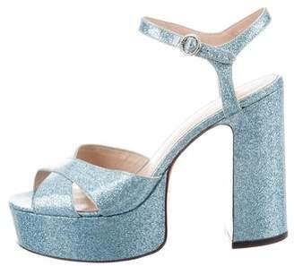 Marc Jacobs Glitter Platform Sandals