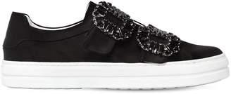 Roger Vivier 20mm Sneaky Viv Buckled Satin Sneakers