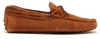Tod's Gommino Suede Driving Shoes - Mens - Tan