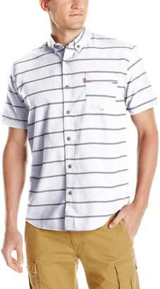 Levi's Men's Dink Short-Sleeve Striped Oxford Shirt