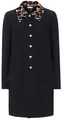 Miu Miu Crystal embellished coat
