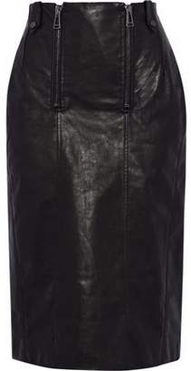 Belstaff Paneled Leather Skirt