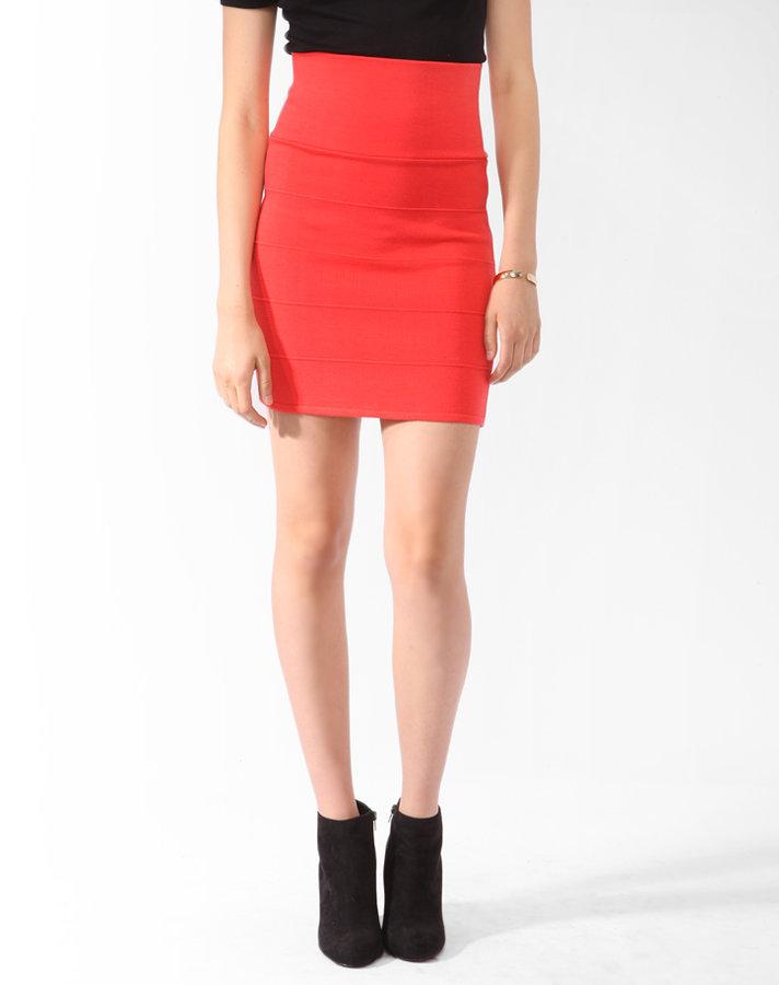 FOREVER 21 Rib Knit Bandage Skirt