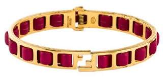 Fendi Fendista Leather Bracelet