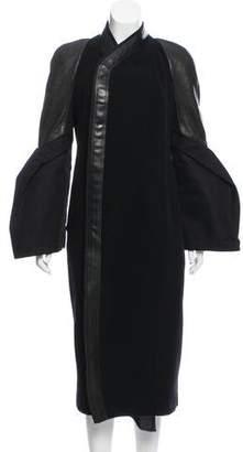 Rick Owens Long Wool Coat