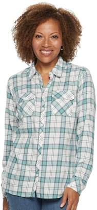Croft & Barrow Petite Extra Soft Classic Button-Down Shirt