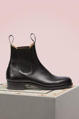 J.M. Weston Cambre Box Calf Chelsea Boots