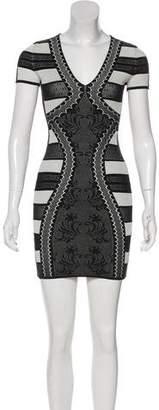 Alexander McQueen Scoop Neck Bodycon Dress