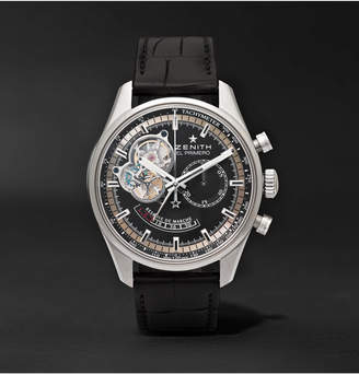 Zenith El Primero Chronomaster 42mm Stainless Steel And Alligator Watch