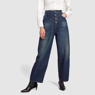 Maison Margiela High-Waisted Button-Down Jeans