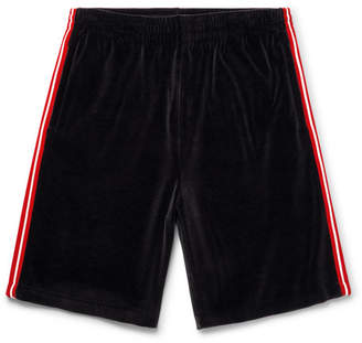 Gucci Webbing-Trimmed Velvet Drawstring Shorts