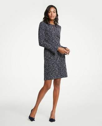 Ann Taylor Petite Tweed Flare Sleeve Dress