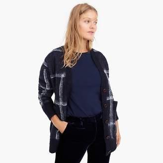 J.Crew Plaid front-pocket cardigan sweater
