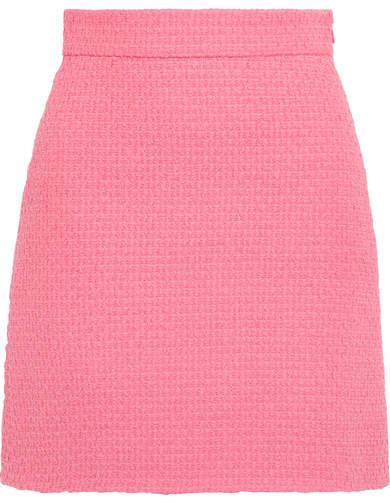 Gucci - Cotton-blend Tweed Mini Skirt - Pink
