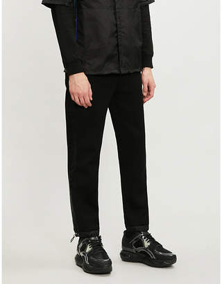Prada Contrast-panel cotton-blend jogging bottoms