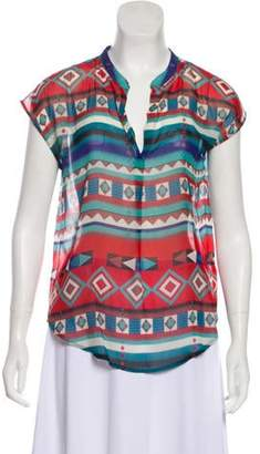 Rory Beca Printed Silk Top