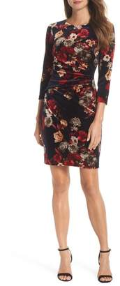 Vince Camuto Floral Velvet Dress