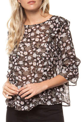 Dex Printed Frill Blouse