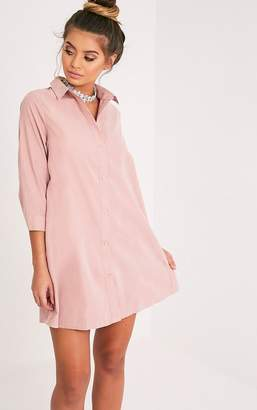 PrettyLittleThing Leni Nude Shirt Dress