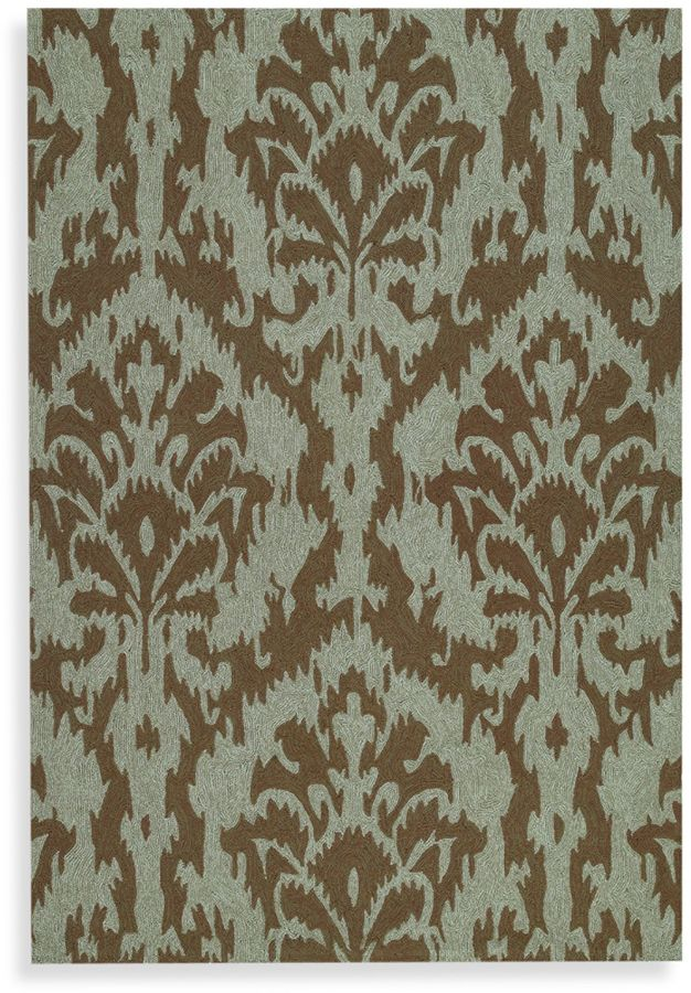 Kaleen Sea Spray Indoor/Outdoor Rug in Mocha