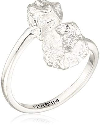Pilgrim Women Silver Plated Piercing Ring - 191746004